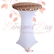 spandex stretch Leopard cocktail table toppers Animal Printted