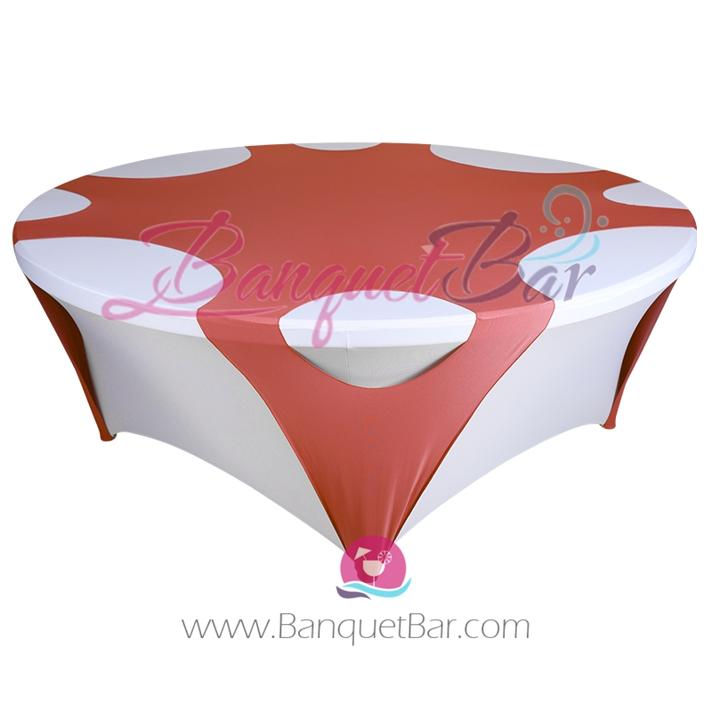 Watermelon Red ROUND STRETCH TABLE OVERLAYS [sp1tco_72h27]   $16.00 :  Banquet Bar Spandex Cocktail Table Covers,Stretch Chair Covers For  Wedding,elastic ...