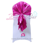 Fuchsia Metallic Stretch Chair Hooder