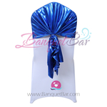 Royal-Blue Metallic Stretch Chair Hooder
