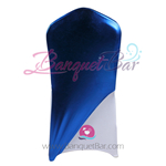 Royal-Blue Metallic Stretch Chair Cap/ Garment Bag