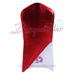 Red Metallic Stretch Chair Cap/ Garment Bag