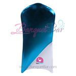 Blue Metallic Stretch Chair Cap/ Garment Bag