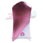Pink Metallic Stretch Chair Cap/ Garment Bag