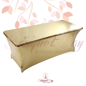 metallic Gold Rectangle spandex table covers