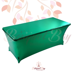 metallic Green Rectangle spandex table covers