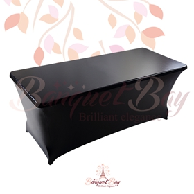 metallic Black Rectangle spandex table covers