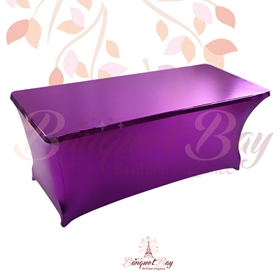 metallic Purple Rectangle spandex table covers