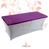 metallic Purple Rectangle spandex table toppers