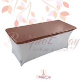 metallic Bronze Rectangle spandex table toppers