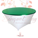 metallic Green stretch round topper-Elastic spandex table topper