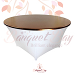 metallic Bronze stretch round topper-Elastic spandex table toppe