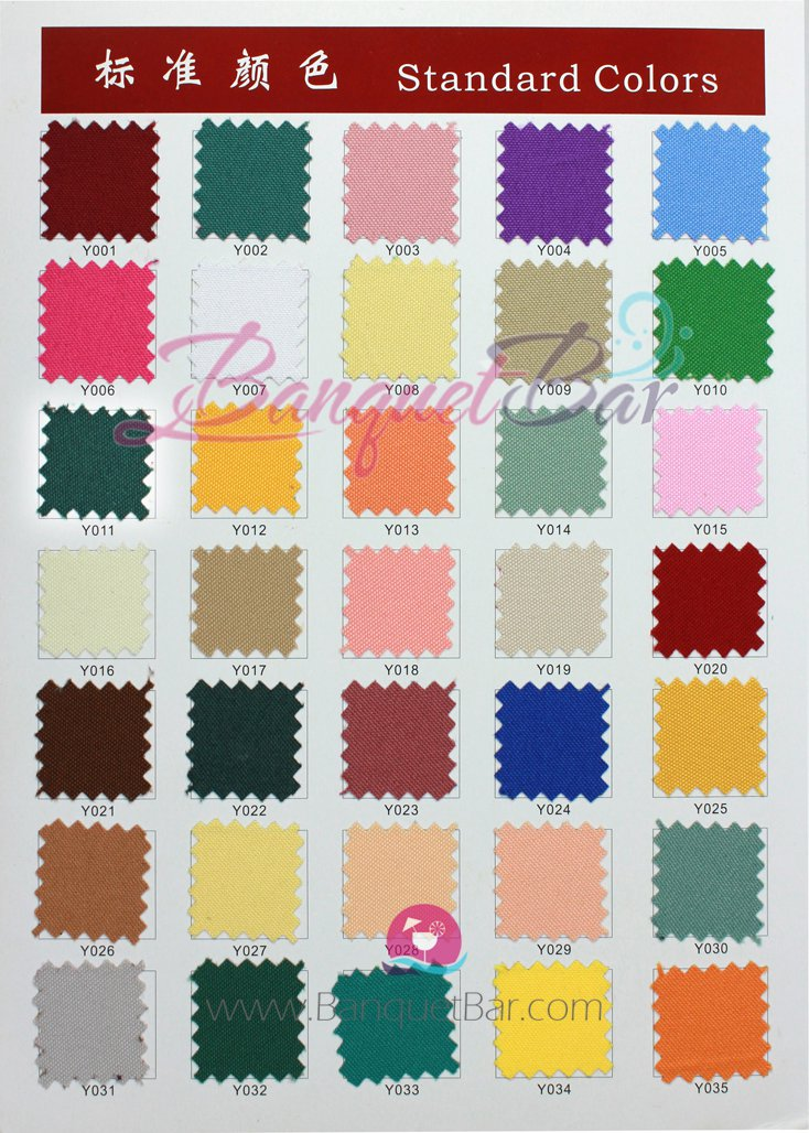 Polyester Fabric Color Chart