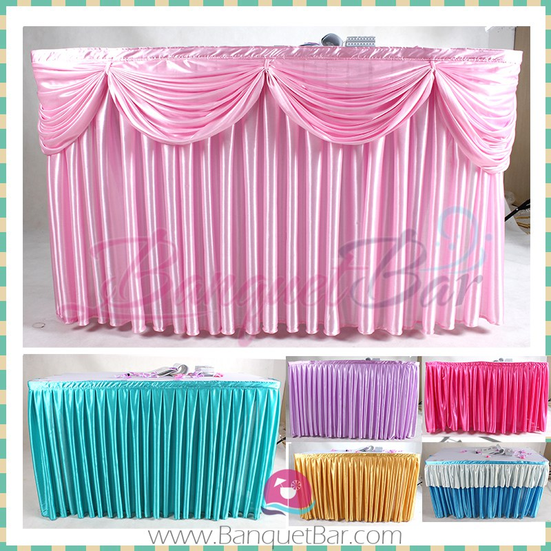 Silk Table Skirt Wedding 4 00 Spandex Tail Covers Stretch Chair For Elastic Lycra Sash