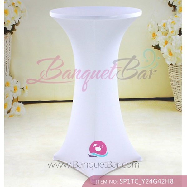 White Stretch Cocktail Table Covers Spandex Spandex