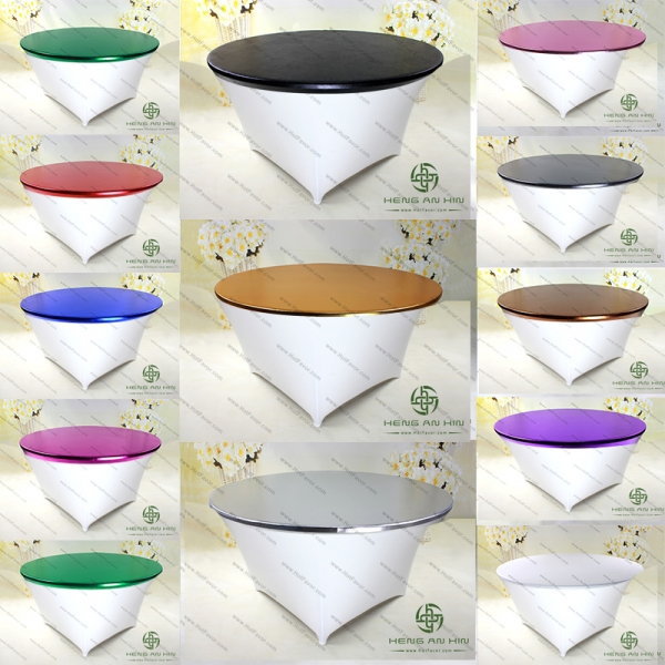 Metallic Stretch Round Topper Elastic Spandex Table Topper Sp3tt Y